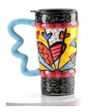 A New Day Mug by Romero Britto