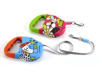 Orange Retractable Leash by Britto