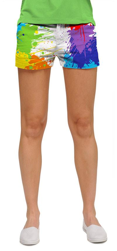 Drop Cloth Women Mini Shorts by Loud Mouth