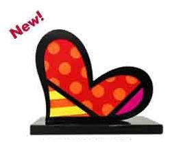 For You Too Aluminum Sculpture by Romero Britto (CALL FOR PRICING)