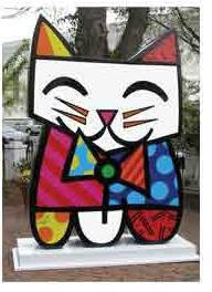 Squeak! - Sculpture by Romero Britto (CALL FOR PRICING)