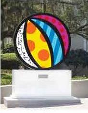 Beach Ball Sculpture by Britto