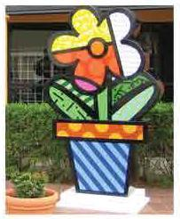 Flower Pot Sculpture by Britto