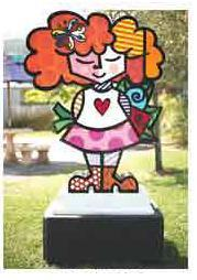Good Girl Sculpture by Romero Britto (CALL FOR PRICING)