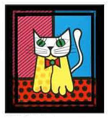 Cat by Romero Britto