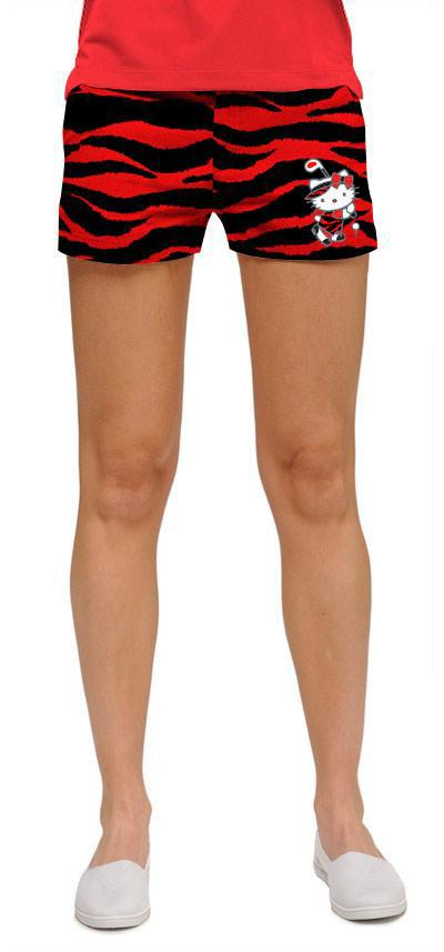 Hello Kitty Red Tarzan Women's Mini Shorts By Loudmouth Golf