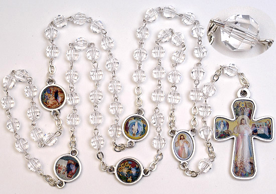 "24"" x 6mm Swarovski ++++++++++++++++++ ""Rosary of the LIght"" ++++++++++++++++++ $52.95 ++++++++++++++++++ Item# RM-4-1603"