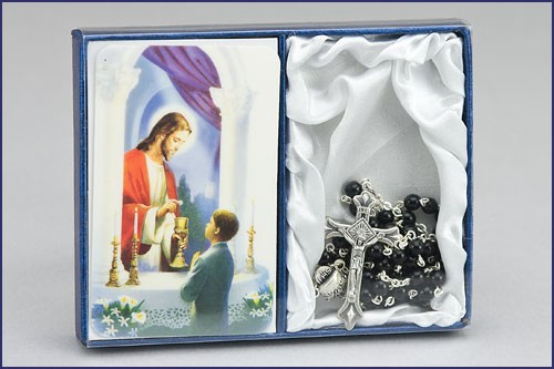 Rosary & Card Set ++++++++++++++++++ $12.95