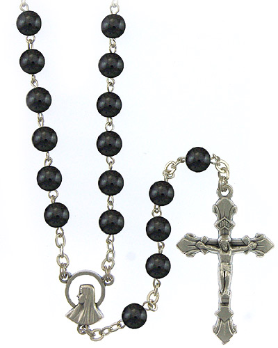 "22""x 6mm HEMATITE ++++++++++++++++++ O.L.O. Lourdes Center ++++++++++++++++++ $16.95 ++++++++++++++++++ Item# RM-8-1603"