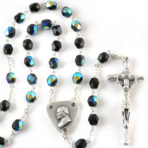 """24""""x 6mm CRYSTAL ++++++++++++++++++ Pope John Paul II Center ++++++++++++++++++ SOLD OUT ++++++++++++++++++ Item# 1-05107BK"""