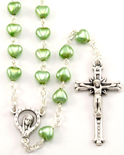 "24""x 6mm GREEN Glass ++++++++++++++++++ Madonna/Stars Center ++++++++++++++++++ $15.95 ++++++++++++++++++ Item# RM-8-1607G"
