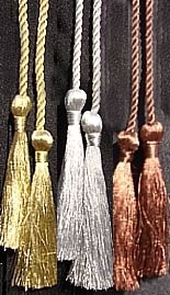 Bronze graduation tassel
