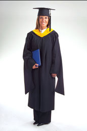 Masters Deluxe Cap Gown and Tassel Package
