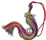 Multi color graduation tassel
