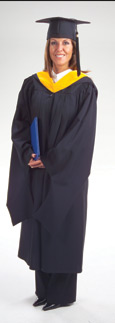 Masters premium graduation gown only