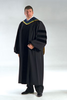 Doctoral Deluxe Tam Gown and Hood