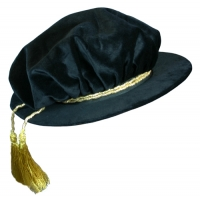 "Beefeater Hat  Velvet for Academic Regalia ""Tudor Bonnet"""