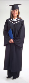 Bachelor Deluxe Cap Gown Tassel and Hood
