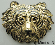 Indian Tiger's Head Enameled