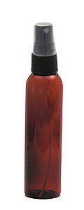 Amber Plastic PET Bottle with Spray Top