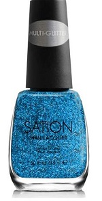 Sation Tall, Dark & Has Some Multi-Glitter Nail Polish 3009