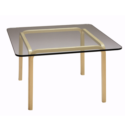 Artek Alvar Aalto   Large Glass Top Table Y805A   Click To Enlarge