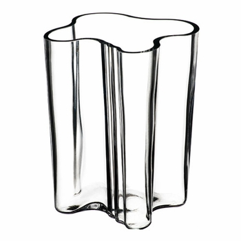 Iittala Aalto Clear Savoy Vase 7 14 Discontinued Items