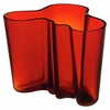 Iittala Aalto Flaming Red Vase - 6-1/4""