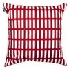 Artek Aalto Siena Throw Pillow - Red/White Block