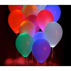 BLOWOUT SPECIAL! MULTICOLOUR LED BALLOONS: 25-PACK