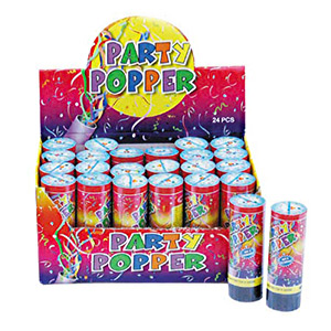 PARTY POPPERS: BULK BOX OF 24