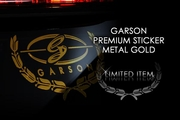 Garson DAD Premium Sticker Gold Chrome
