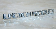 Junction Produce Chrome Emblem Logo