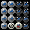 Detroit Lions Pool Balls, Billiard Balls