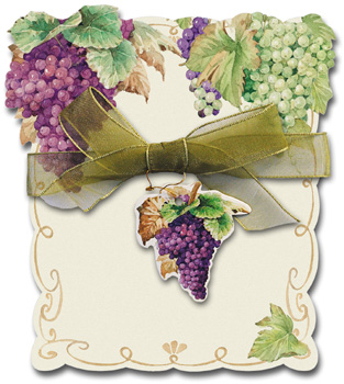 Grapes and Wine Diecut Notepad