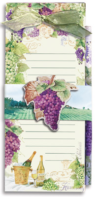 Grapes Magnetic List Pad