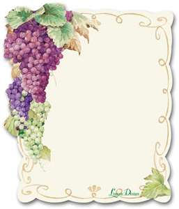 Grapes Diecut Sticky Notepad
