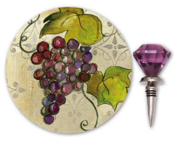 Wine Coaster and Bottle Stopper