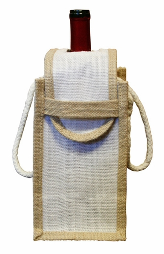 Single Bottle Natural Fiber Tote