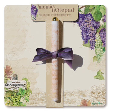 Grapes Mouse Note Pad