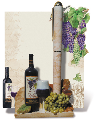 Grapes Pen and Pad Holder Set