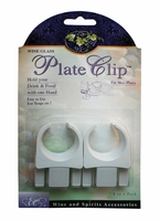 Set of Four Wine Glass Plate Clips