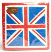 Caspari Union Jack Luncheon Napkins