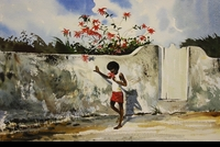 RENESON: BOY WITH FLOWER