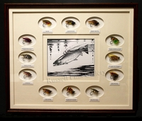 HENNESSEY:  ORIGINAL PEN & INK<br>WITH SALMON FLIES