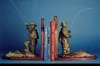FIGURE:  FLY FISHING BOOKENDS