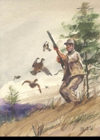 WEILER:  QUAIL HUNTING</a><br><b>- SOLD</b>