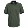 SK52MG Short Sleeve Moss Green/Navy Performance Knit® Twill Polo Shirt