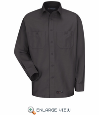 WS10CH Wrangler Long Sleeve Charcoal Workshirt