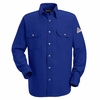 SNS2RB Royal Blue Snap-Front Uniform Shirt-Nomex® IIIA-4.5 oz.